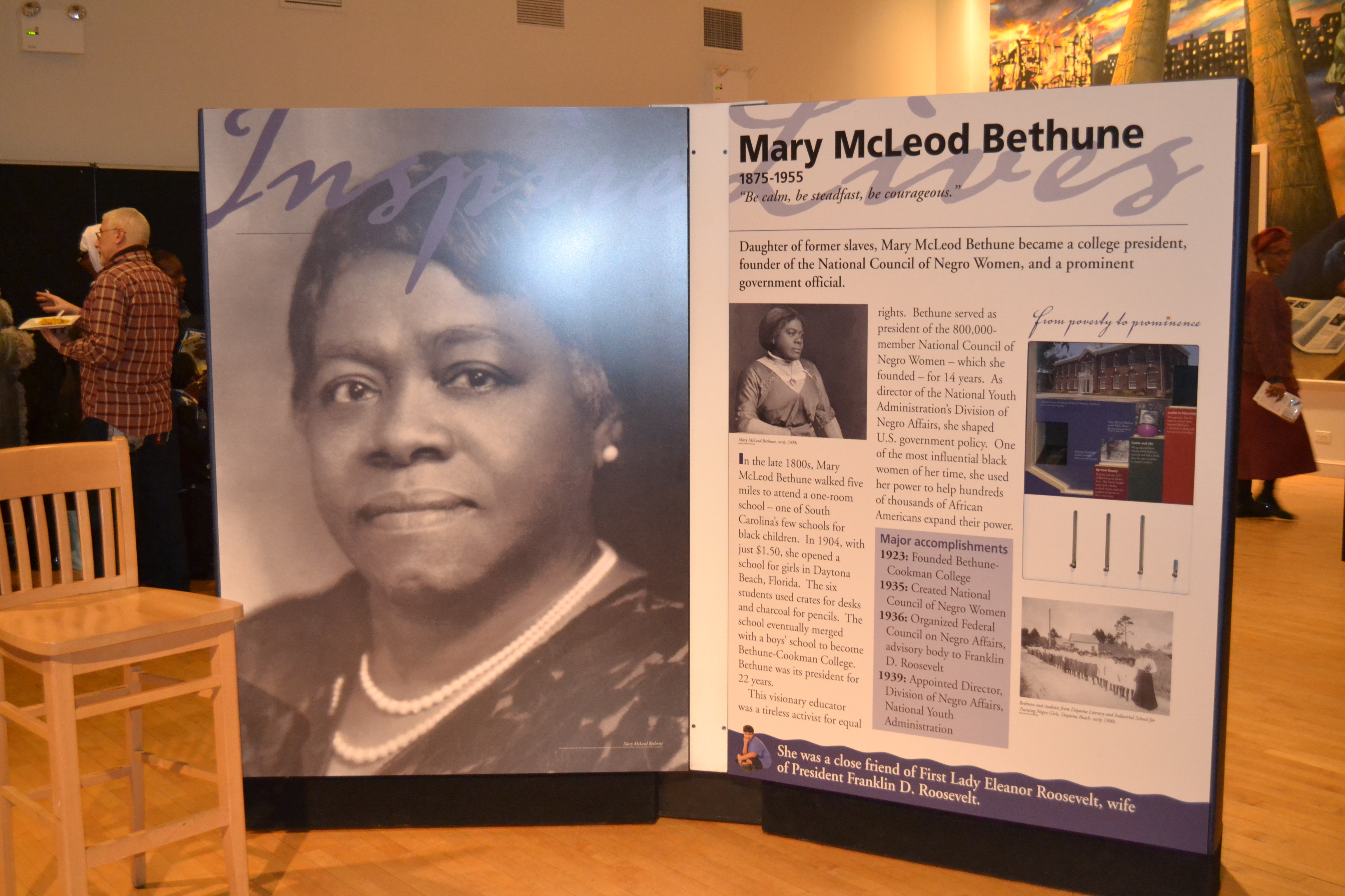 mary mcleod bethune The daughter of former slaves, mary mcleod bethune was a revolutionary educator, civil rights activist, presidential advisor, and leader in this.