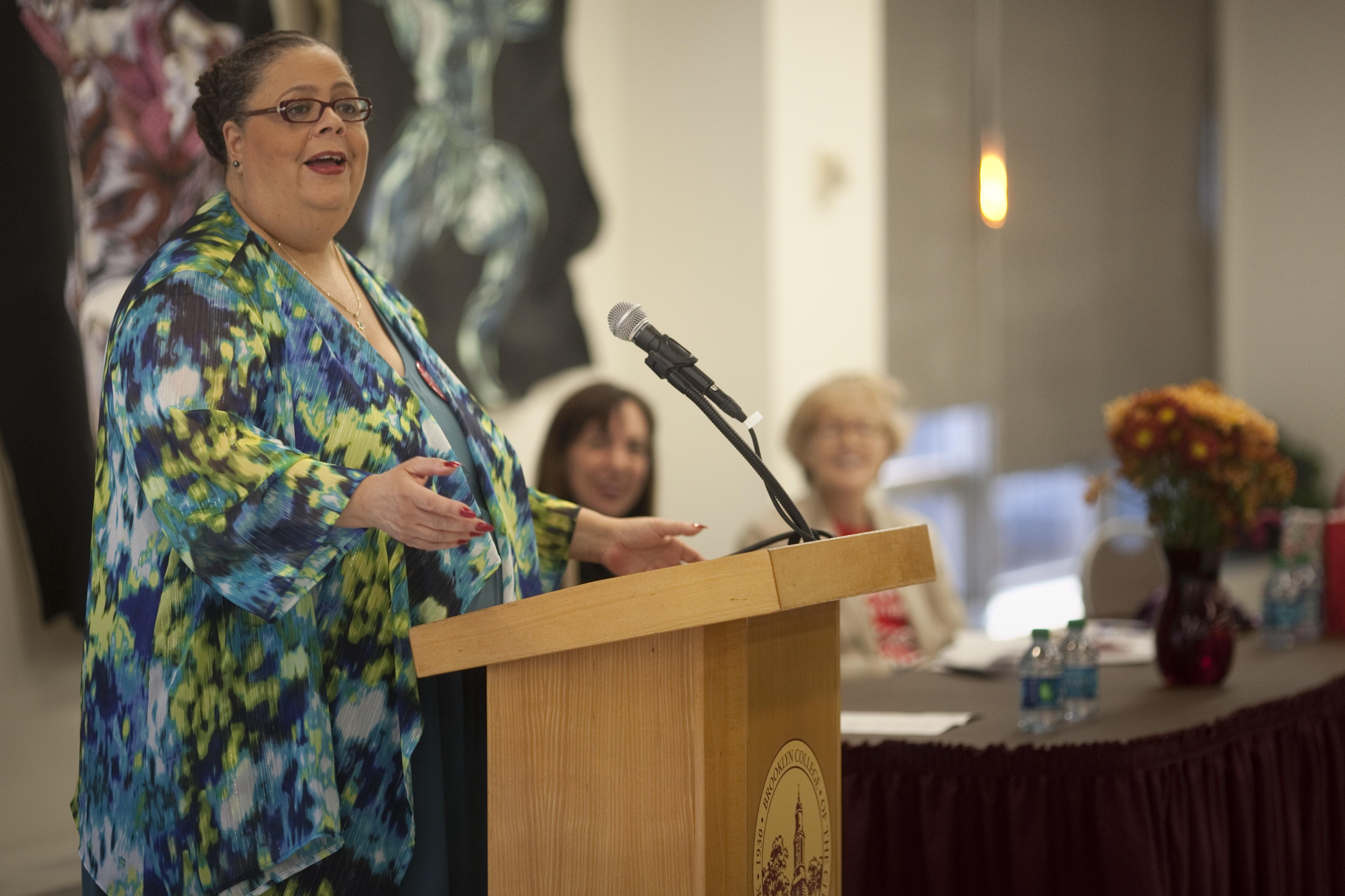 Keynote speaker Karen Lewis of the Chicago Teachers Union